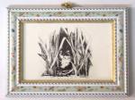 image of framed ink drawing